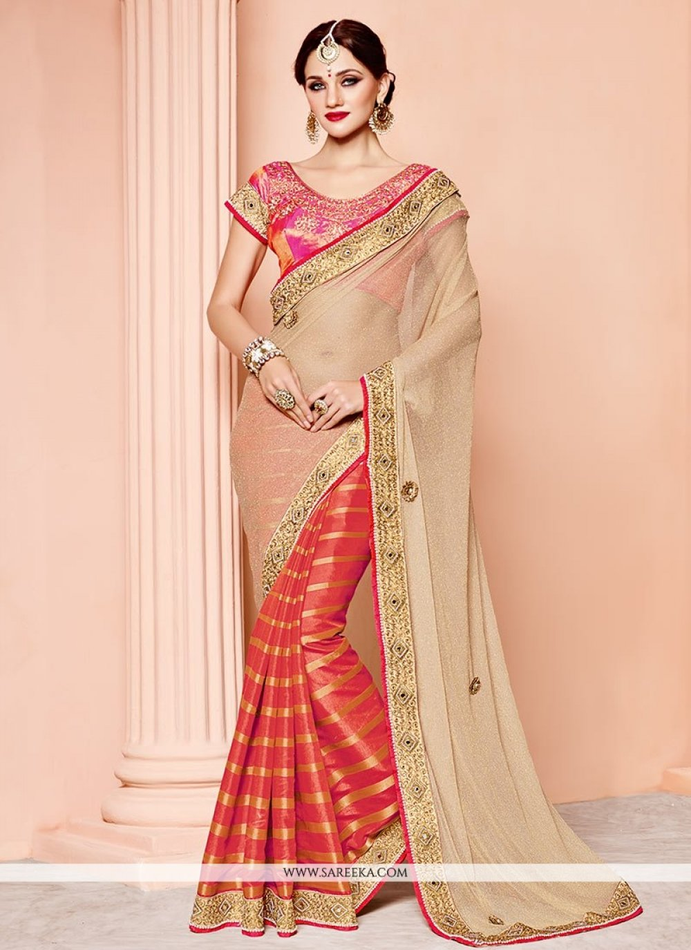 Banarasi Silk Designer Half N Half Saree