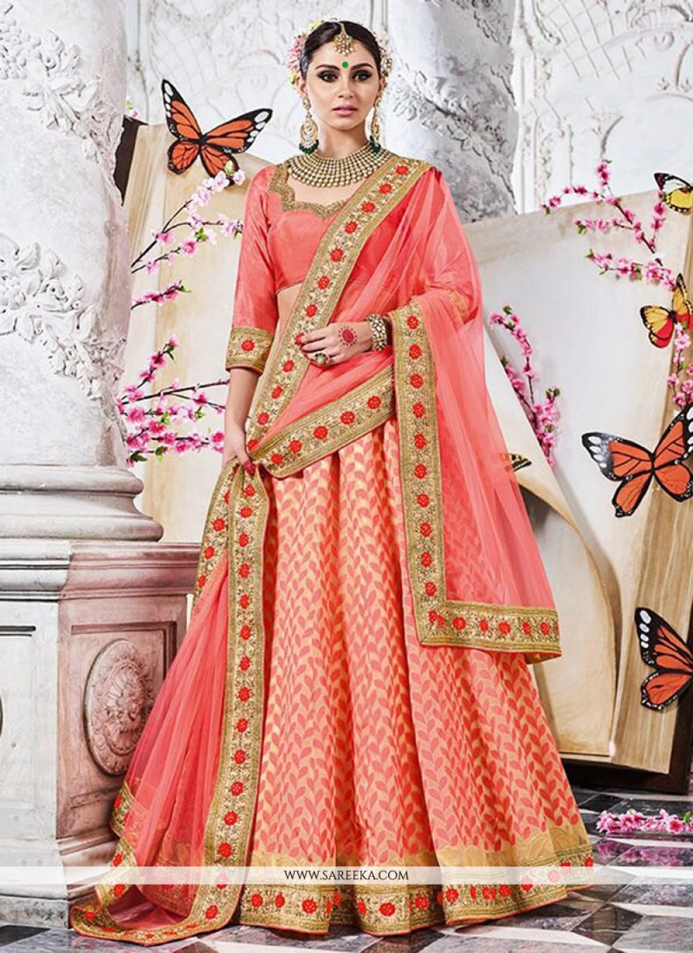 Banarasi Silk Embroidered Work Lehenga Choli