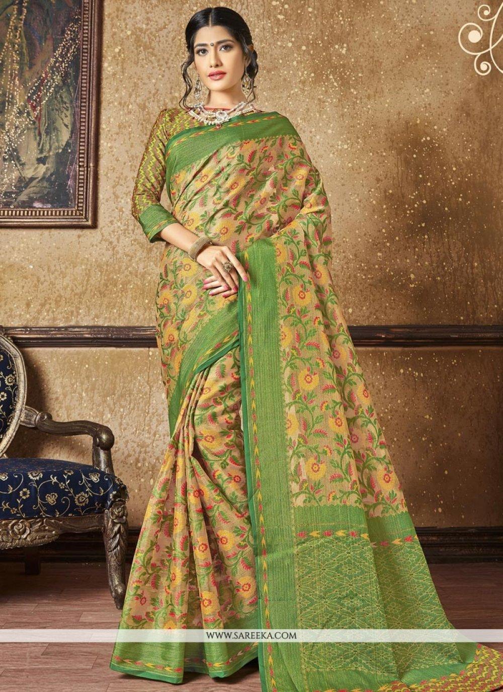 Banarasi Silk Resham Work Designer Traditional Saree