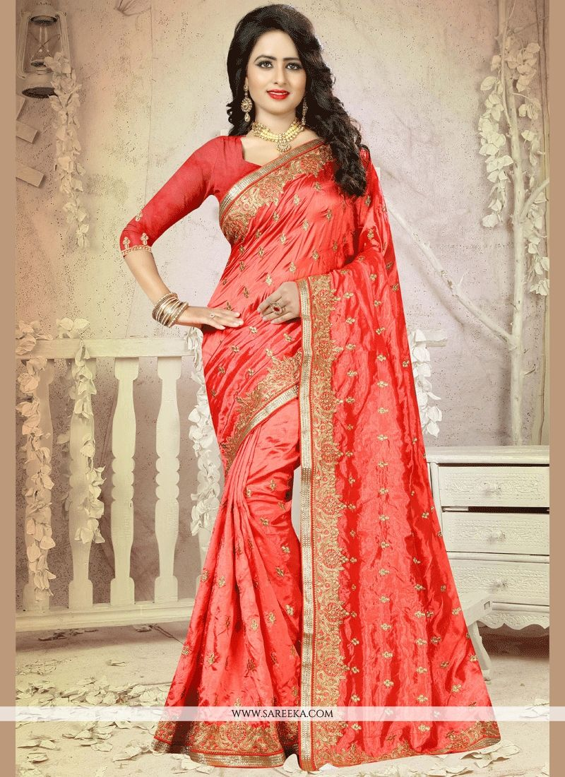 Patch Border Work Designer Traditional Saree