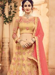 Beige Patch Border Work Lehenga Choli