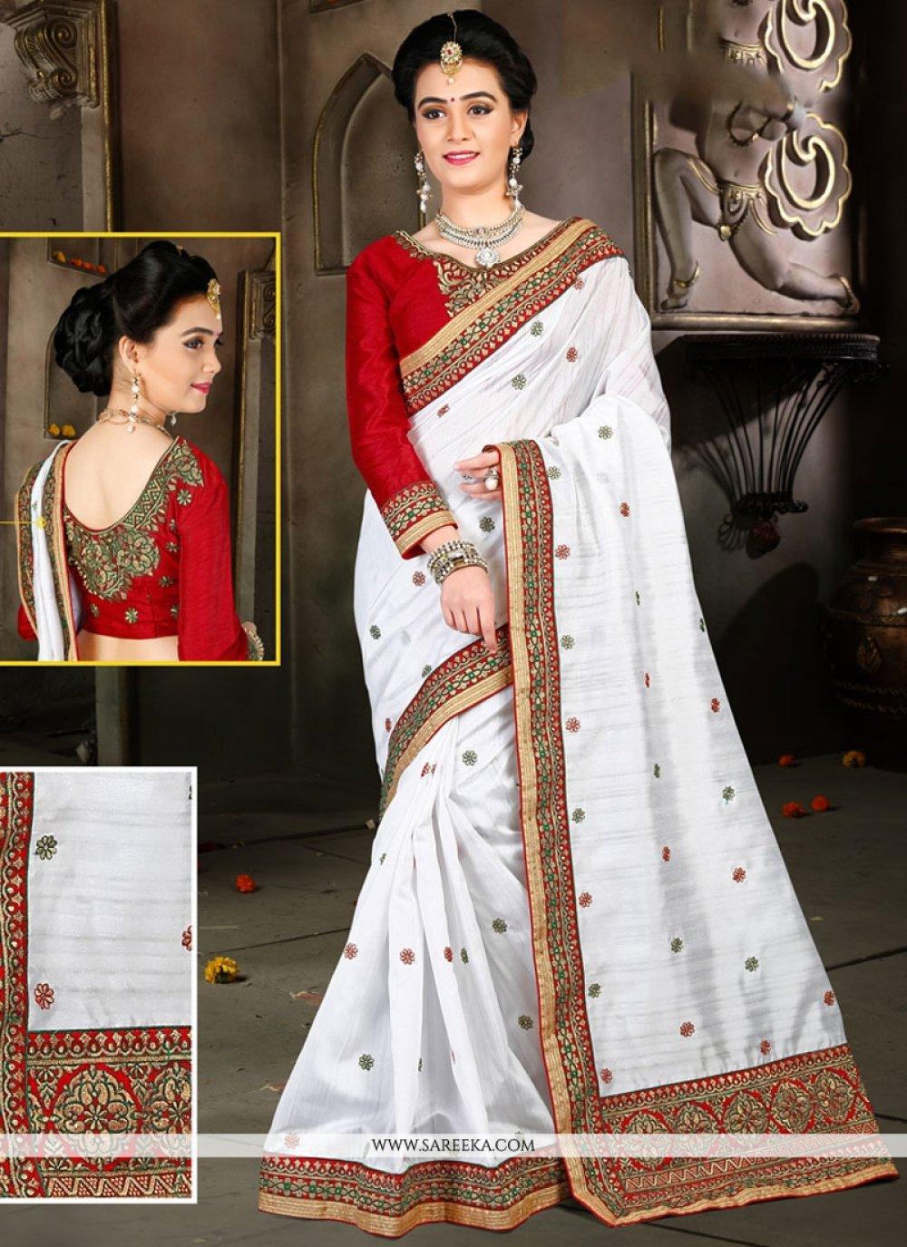Resham Work Bhagalpuri Silk Designer Traditional Saree