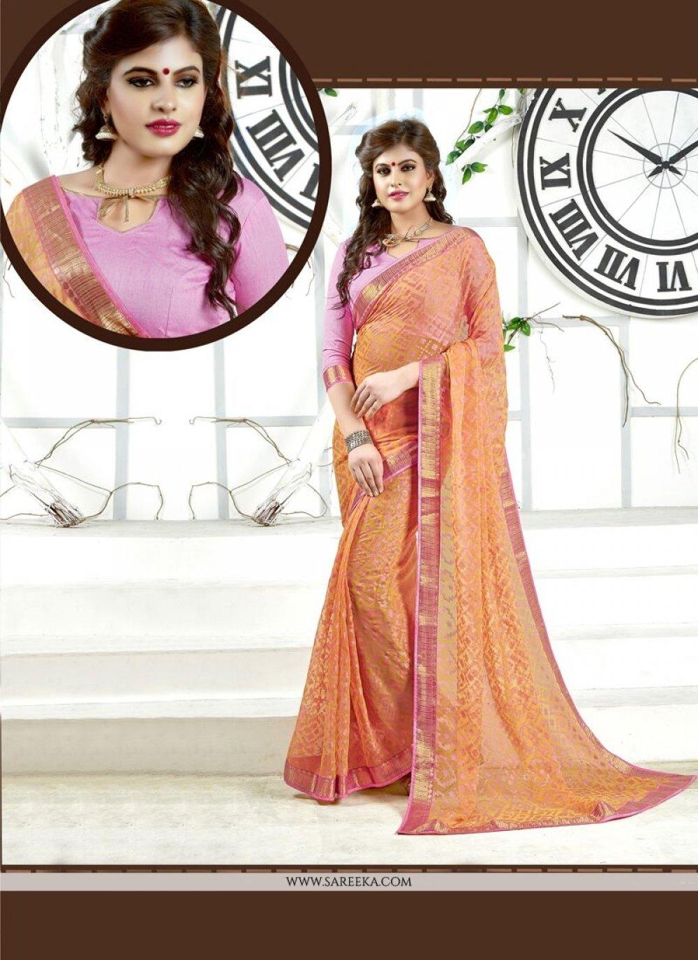 Brasso Pink Classic Designer Saree