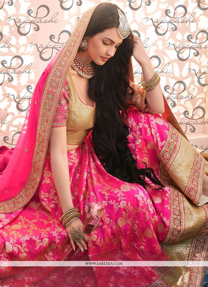 Resham Work Brocade Lehenga Choli