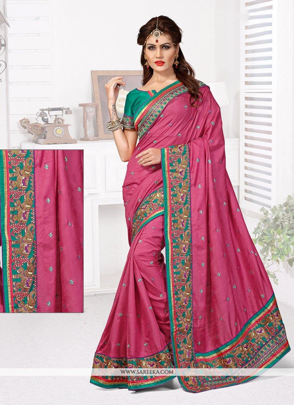 Manipuri Silk Resham Work Designer Traditional Saree