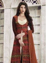 Embroidered Work Faux Georgette Designer Palazzo Suit
