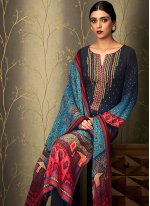 Embroidered Work Multi Colour Cotton   Pant Style Suit