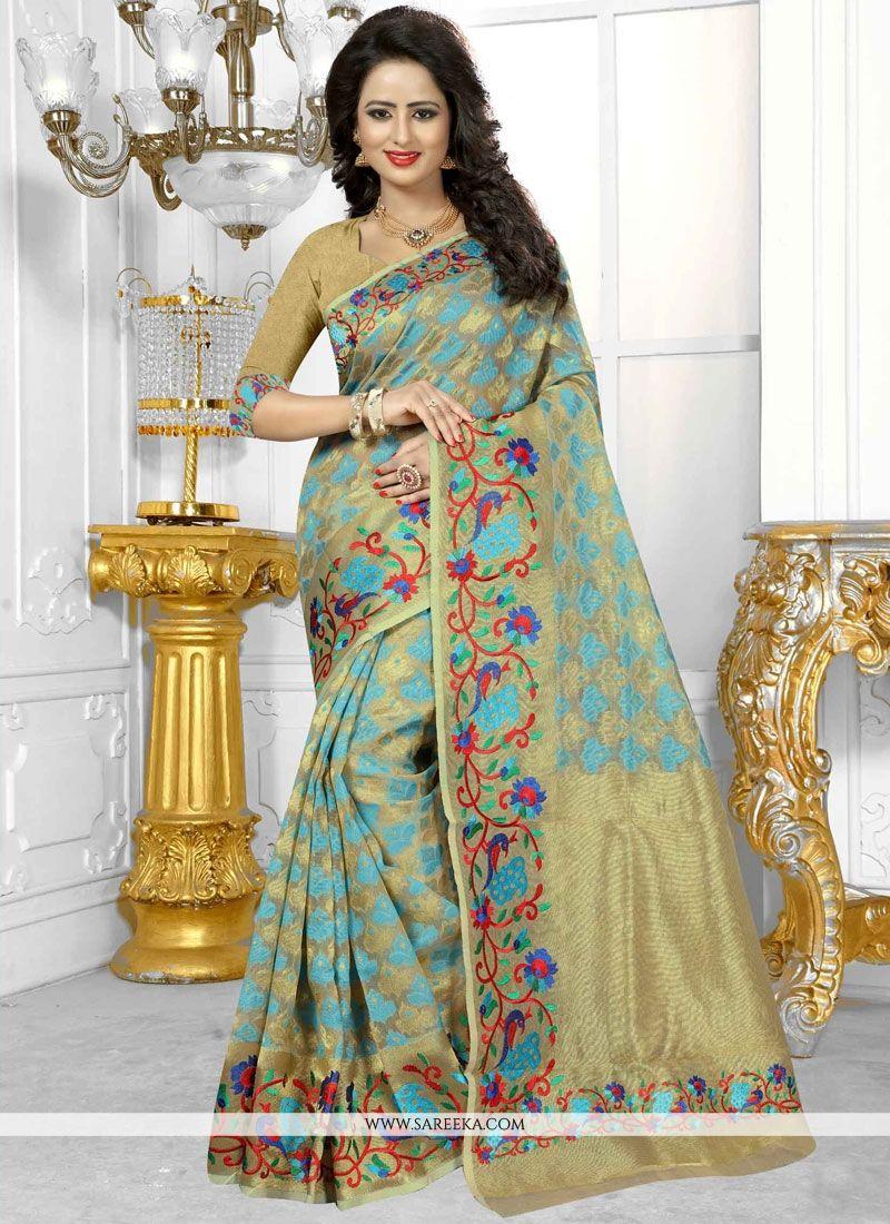 Banarasi Silk Beige Weaving Work Designer Traditional Saree
