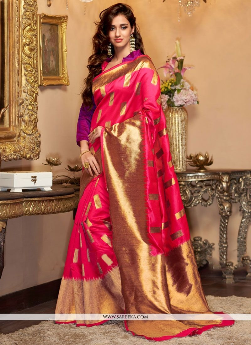 Cotton Silk Weaving Work Designer Traditional Saree