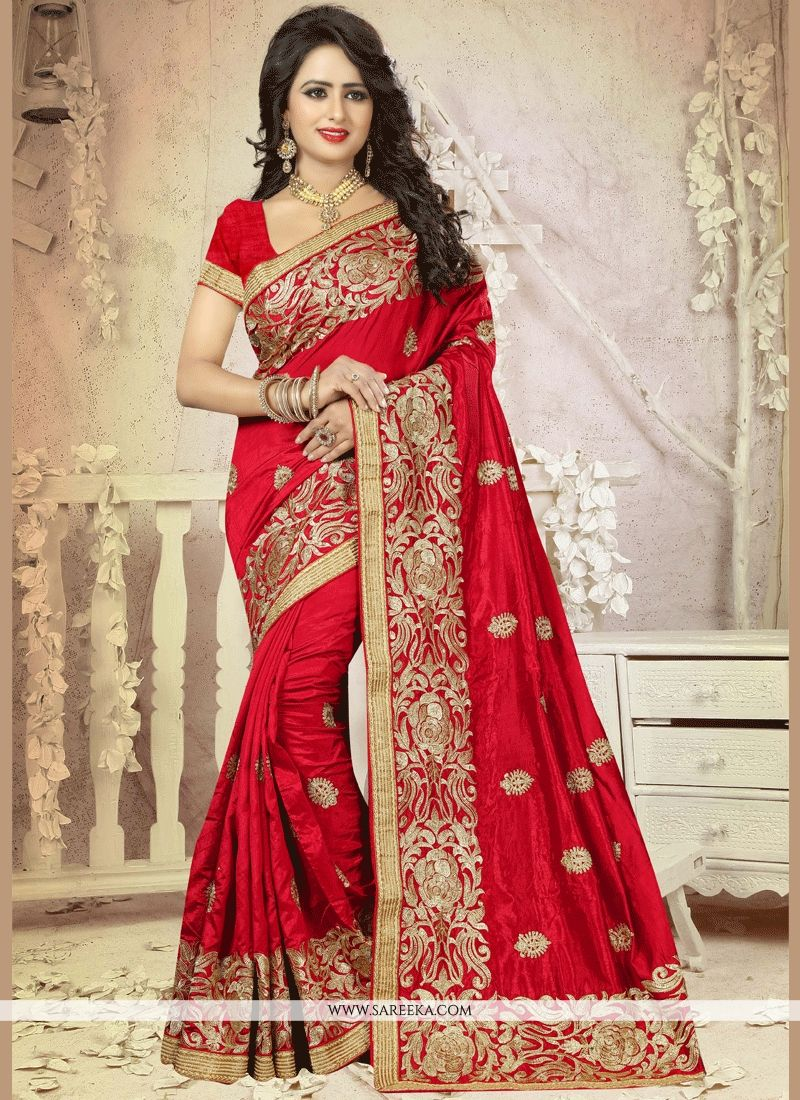 Maroon Art Silk Designer Traditional Saree