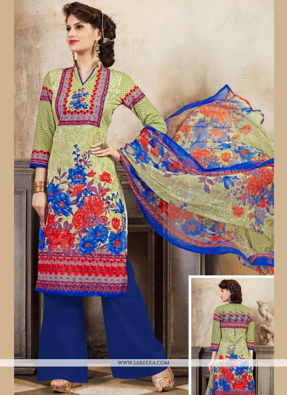 Cotton   Multi Colour Palazzo Suit