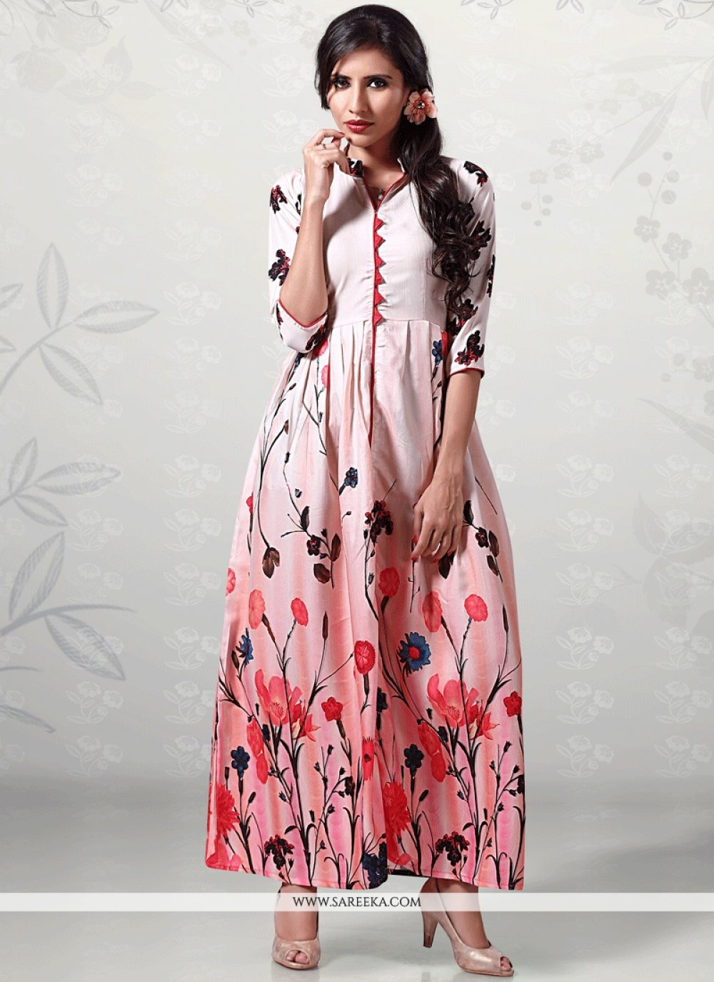 Cotton   Multi Colour Print Work Party Wear Kurti