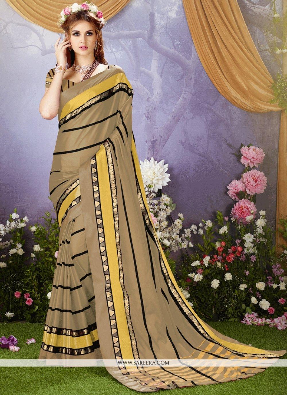 Cotton Silk Beige Casual Saree