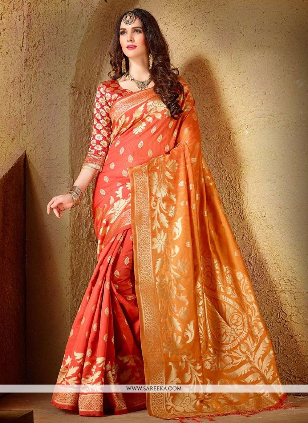 Cotton Silk Weaving Work Designer Traditional Saree