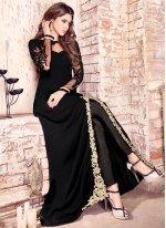 Faux Georgette Designer Floor Length Salwar Suit
