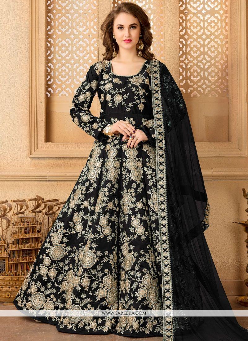 Black Floor Length Salwar