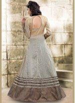 Bhagalpuri Silk Resham Work Long Choli Lehenga