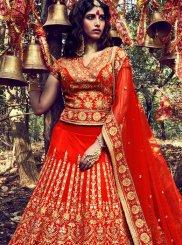 Fancy Fabric Zari Work Lehenga Choli