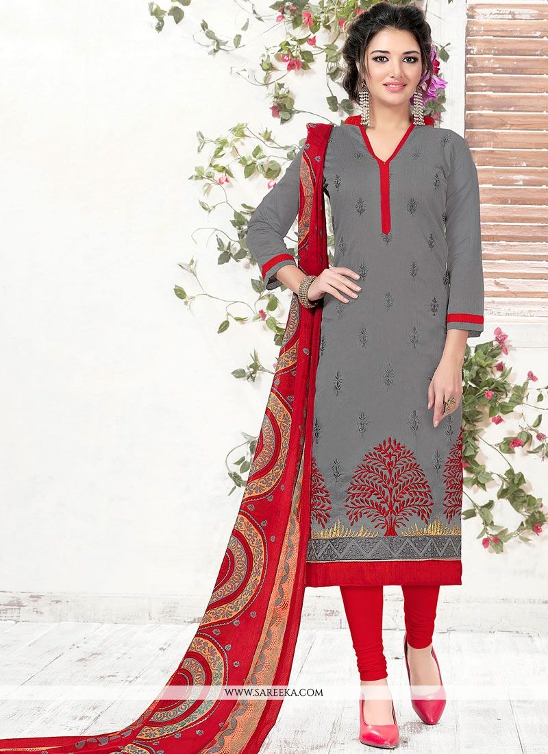 Grey Churidar Suit