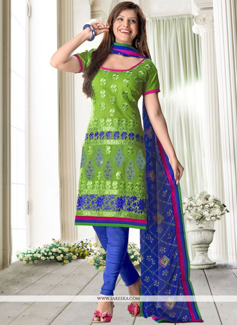 Print Work Churidar Suit