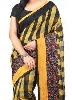 Embroidered Work Art Silk Classic Designer Saree