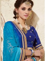 Embroidered Work Half N Half Designer Saree