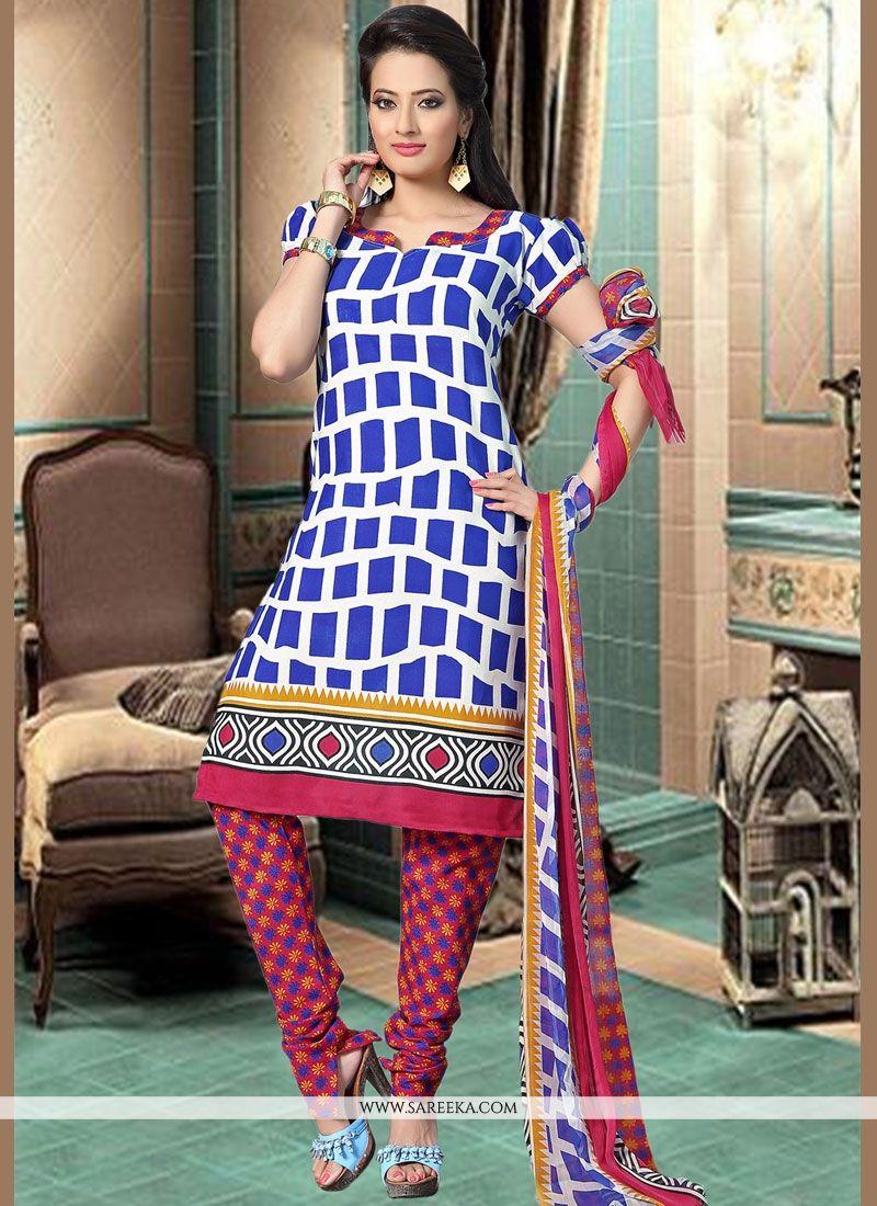 Cotton   Print Work Churidar Suit
