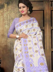 Purple Printed Saree