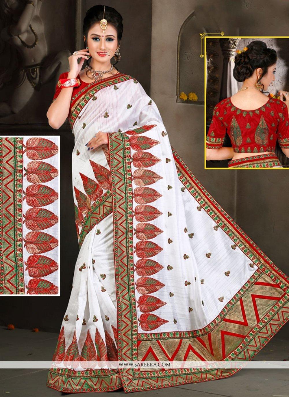 Bhagalpuri Silk Resham Work Traditional Designer Saree