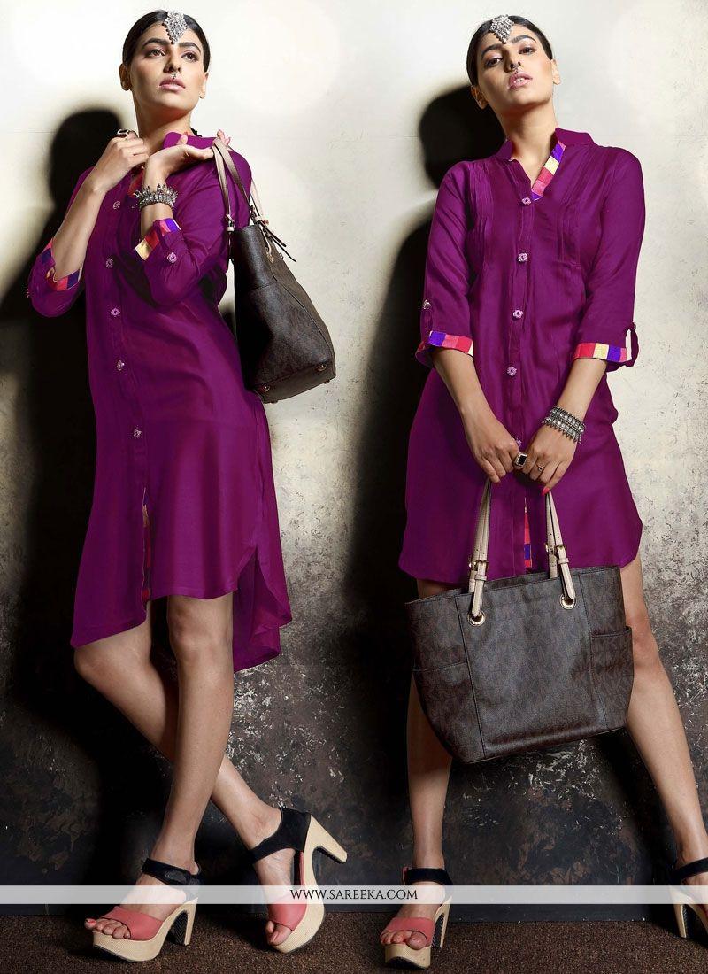 Purple Party Wear Kurti