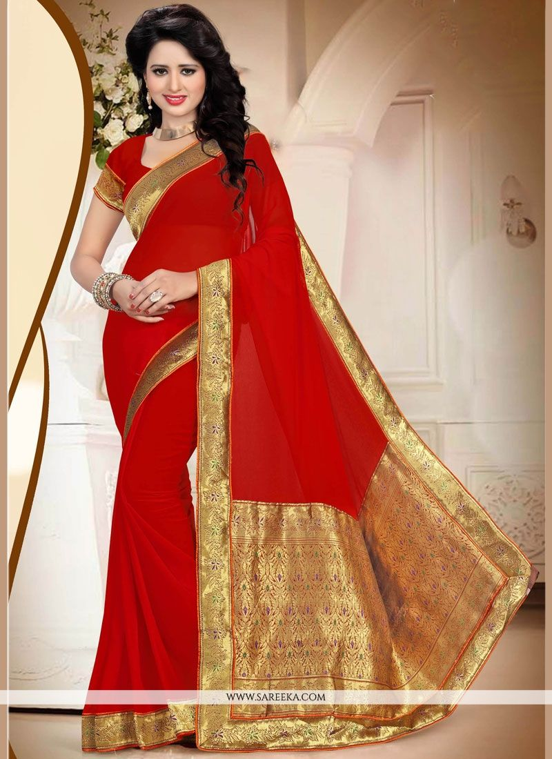 ddab0f4fb7 Buy Red Saree Online : South Africa -
