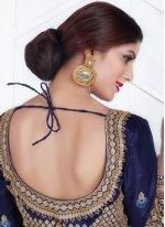 Resham Work Chiffon Satin Classic Designer Saree