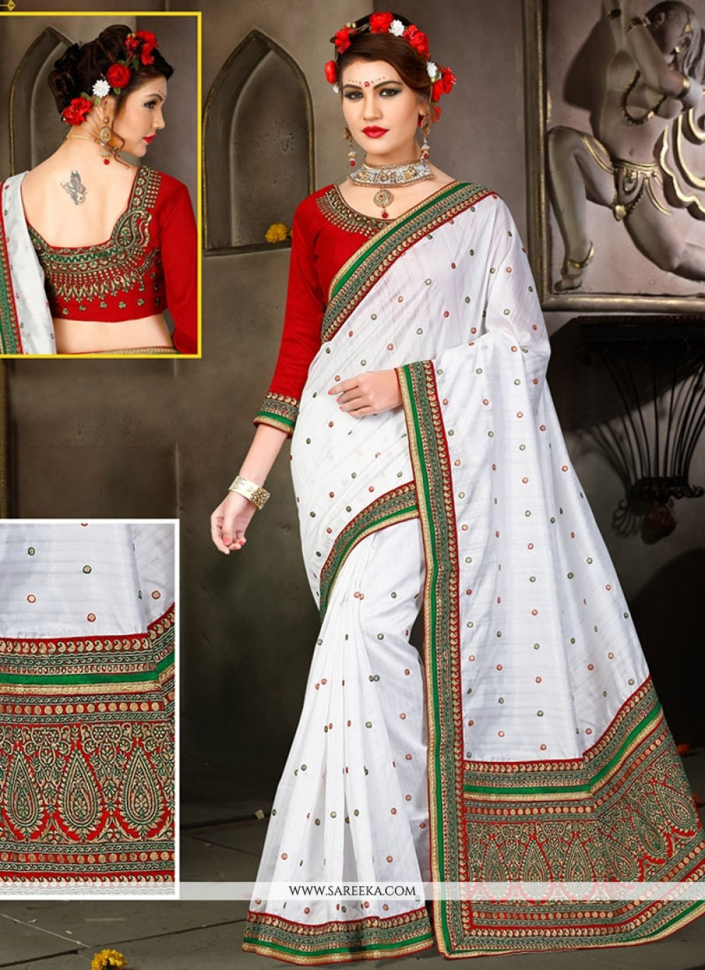 Bhagalpuri Silk Zari Work Traditional Designer Saree