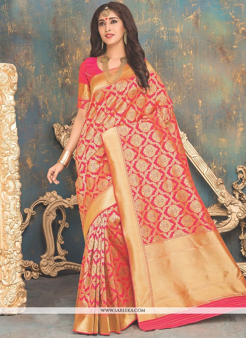 Weaving Work Banarasi Silk Designer Traditional Saree