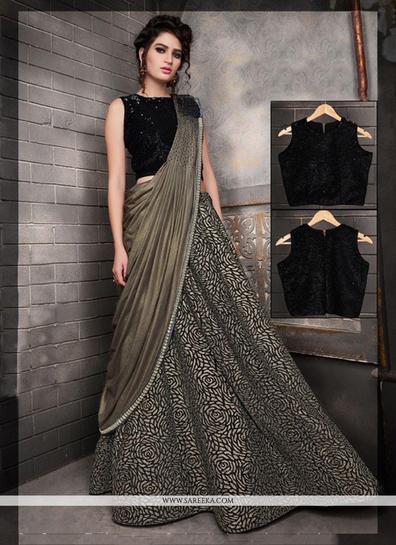 8211e35f27 Fancy Fabric Black A Line Lehenga Choli buy online -