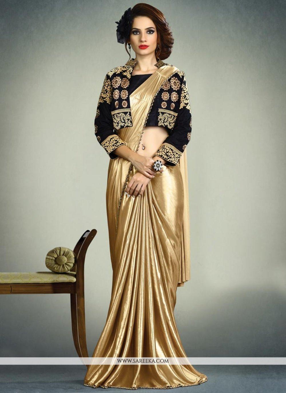 Fancy Fabric Gold Saree