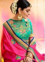 Embroidered Work Designer Half N Half Saree
