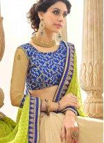 Faux Georgette Multi Colour Classic Designer Saree