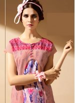 Faux Georgette Multi Colour Print Work Party Wear Kurti