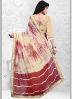 Faux Georgette Print Work Casual Saree