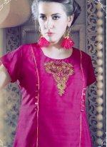 Faux Georgette Print Work Party Wear Kurti