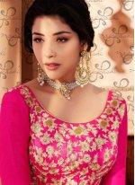 Art Silk Embroidered Work Anarkali Salwar Kameez