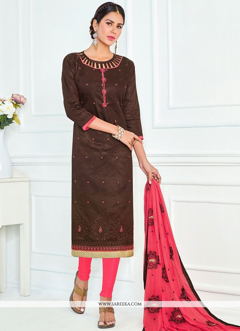 Brown Churidar Suit