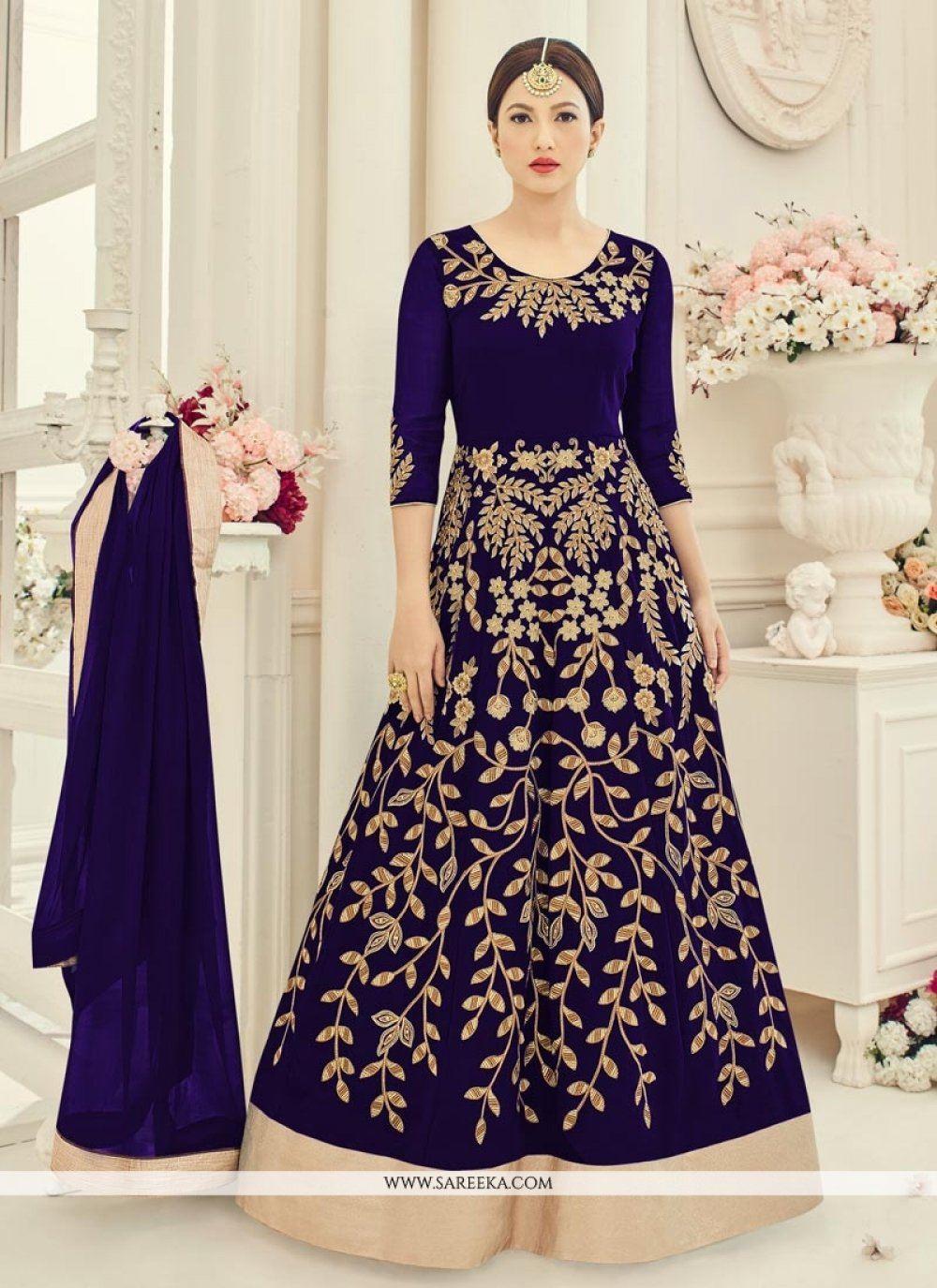 Gauhar Khan Floor Length Anarkali Suit