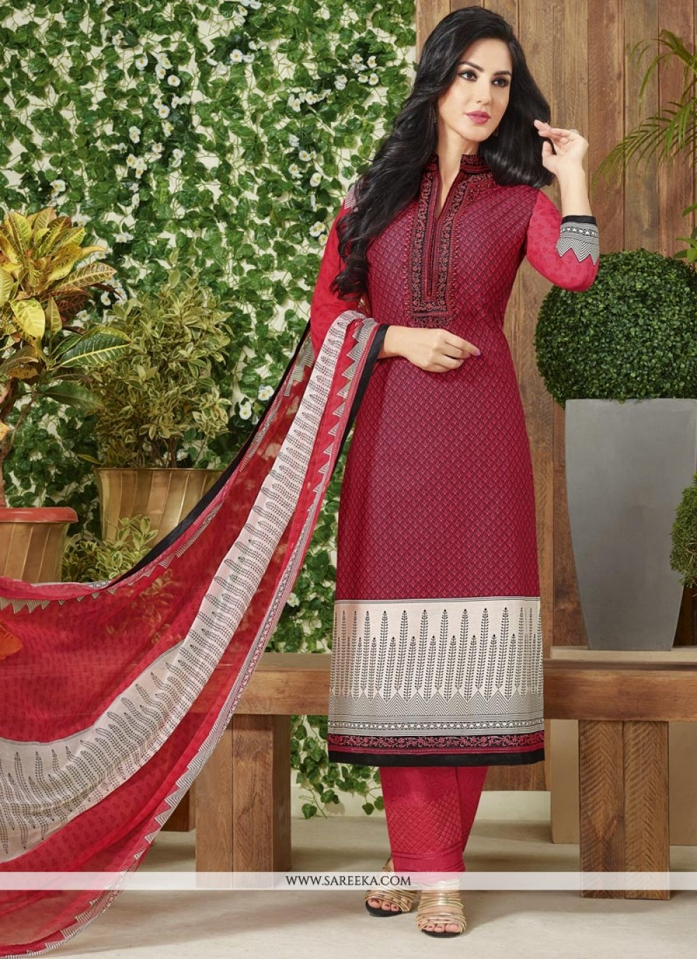 Maroon Pant Style Suit