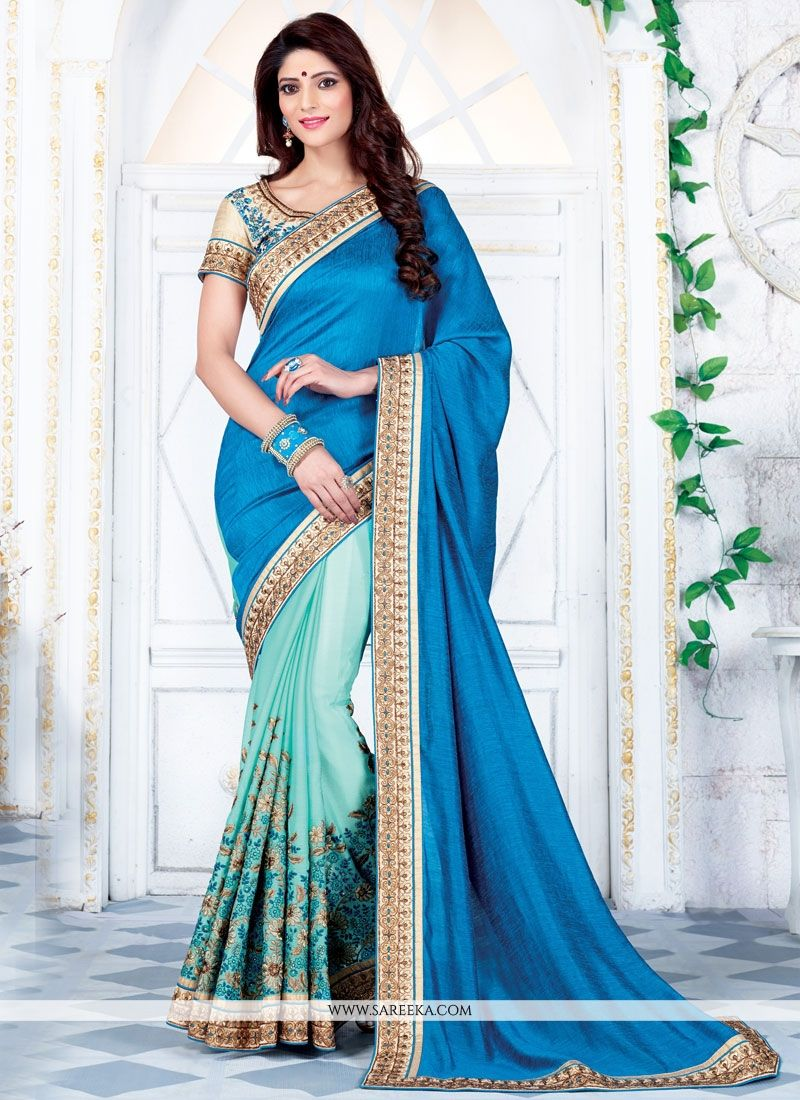 Patch Border Work Half N Half  Saree