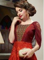 Art Silk Multi Colour Floor Length Anarkali Suit
