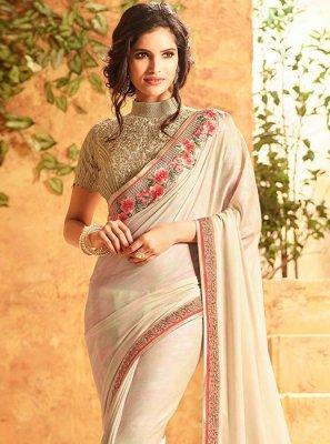 Lace Work Art Silk Designer Traditional Saree