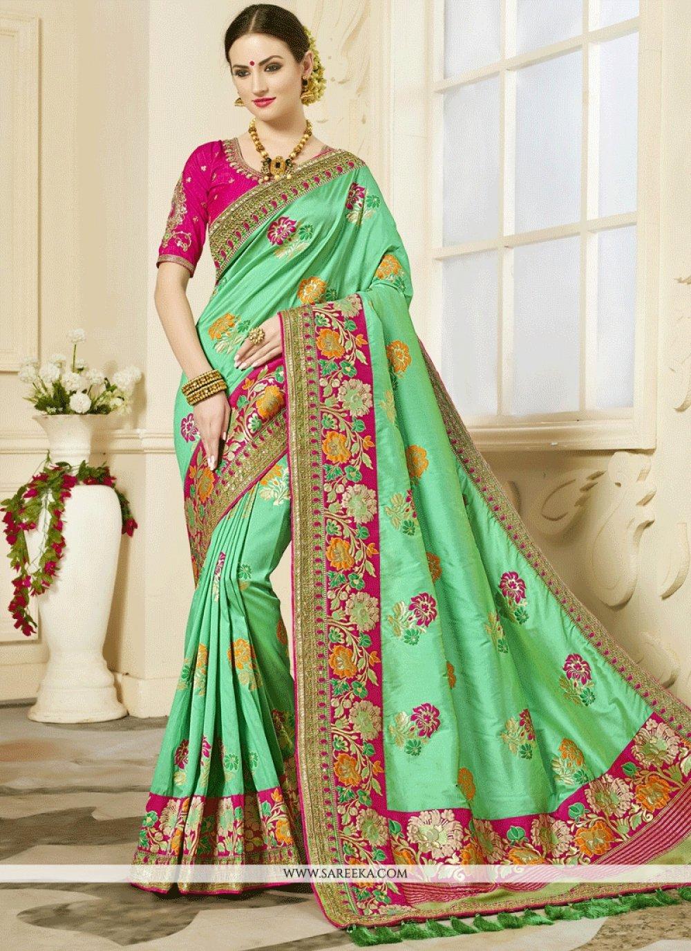 Green Classic Designer Saree