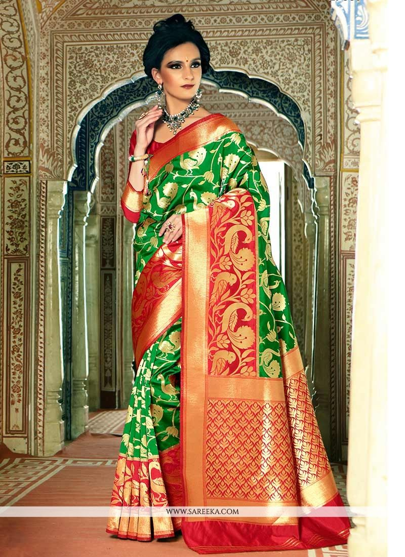 83ff9b914c0871 Buy Online Green Weaving Work Handloom silk Traditional Designer Saree :  62254 -